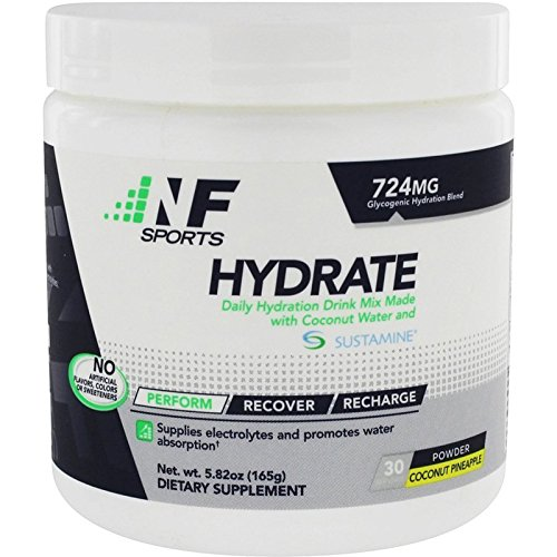 NF Sports Hydrate – An All-Natural Daily Hydration Mix Made With Coconut Water And Sustamine To Help Rehydrate And Recover The Entire Body - Coconut-Pineapple Flavor - 100% Satisfaction Guaranteed