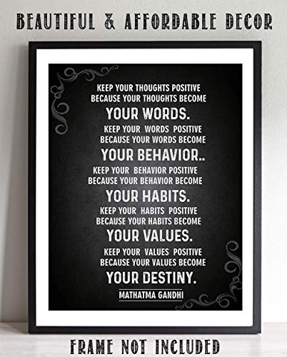 (GANDHI Quotes Wall Art-