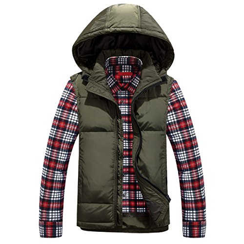 chaleco sin Puffer mangas Down Jacket hombres Winter para Ahatech RwXpII
