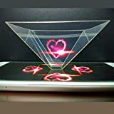 WEKA 3D Hologram Pyramid Display Holographic Showcase for Smartphones Christmas Gift