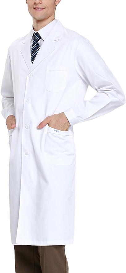 Amazon.com: THEE White Long Sleeve Health Nurse Medical Laboratory Lab Coat Unisex: Industrial & Scientific