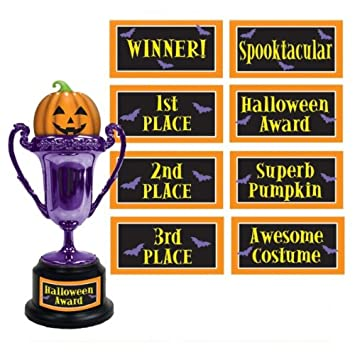 amazon halloween award trophy with asst labels 助教とのハロウィン