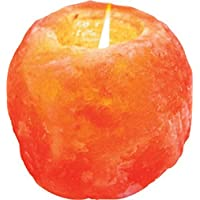 Himalayan Salt Single Candle Holder (1 hole; 2.5 x 3 x 2 inches)
