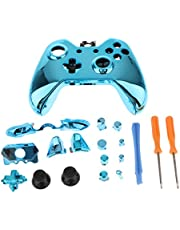 KESOTO Blue Replacement Full Housing Shell Kit for Microsoft Xbox One Controller Button Tool Kit with Thumb Grip Cap Trigger ABXY D-pad Mod