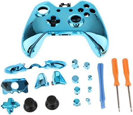 Amazon.es: D DOLITY Kit Completo de Carcasa de Repuesto para Microsoft Xbox One Controller + Destornillador + Palanca Barra - Azul