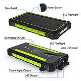 Solar Charger, 20000mAh Qi Wireless Power Bank