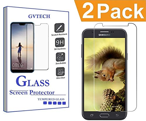 GVTECH Screen Protector for Samsung Galaxy J7 Prime, Tempered Glass Screen Protector[0.3mm, 2.5D][Bubble-Free][9H Hardness][Easy Installation][HD Clear] for Samsung Galaxy J7 Prime(2 Pack)
