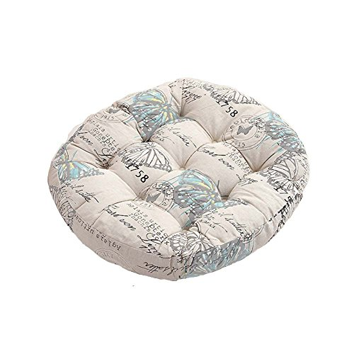 MisDress Butterfly Print Chair Pads Indoor Outdoor Floor Cus
