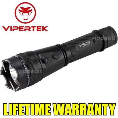 VIPERTEK METAL Stun Gun VTS-195 - 230 Million Volt Rechargeable + LED Flashlight