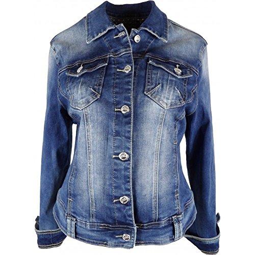 Effet Veste Bleu Délavé Jean's En qrprwZE