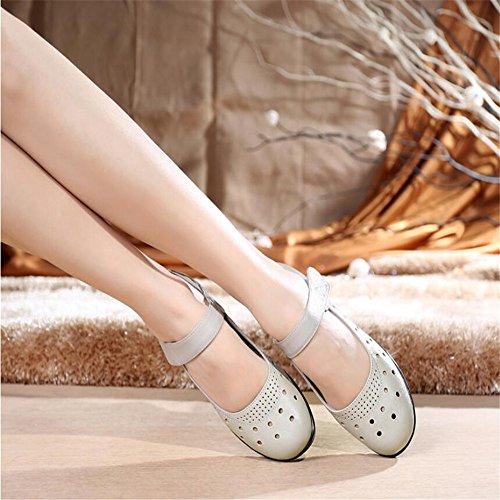 Hueco De Sandals Zapatos De Mujer Blanco leche