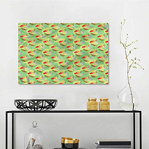 one1love Food Landscape Oil Painting Fast Food Hamburger Beverage Contemporary Abstract Art W47 xL31 from one1love