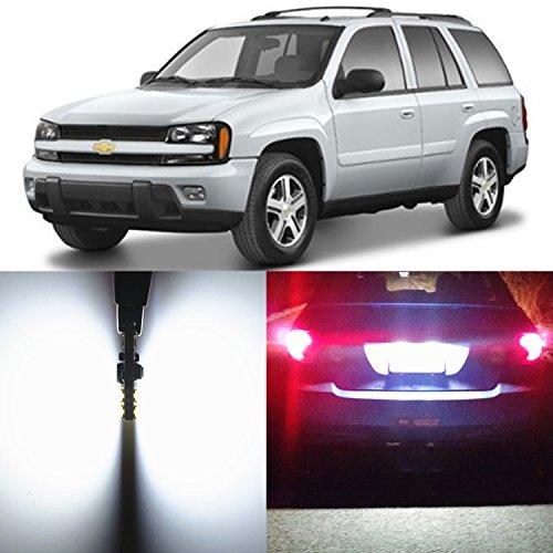 Alla Lighting 2pcs Super Bright 6000K 194 2825L W5W White LED Bulbs License Plate Side Marker Interior Map Light Lamps for 2002 2003 2004 2005 2006 2007 2008 2009 Chevrolet Trailblazer Trailblazer (Chevy Trailblazer Cross)