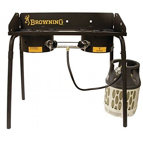 CAMP CHEF Browning Explorer 2 Burner Stove for this list of coolest camp Dutch oven accessories