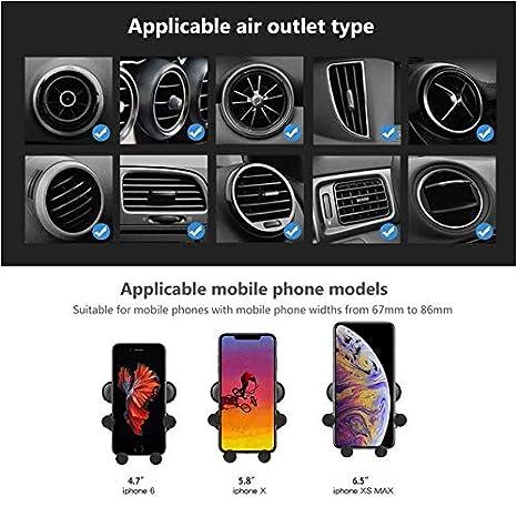 Rosso Zregovic Supporto Smartphone per Auto gravit/à Universale 360 Gradi di Rotazione Porta Cellulare da Auto Huawei e dispositivi Samsung Auto Accessori Interni Porta Telefono Auto iPhone