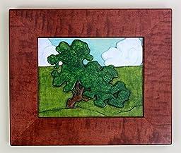 Grueby Tree Framed Carving