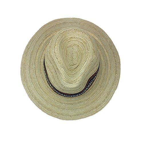 Cookisn Women Beach Sunhat Man Gorras para Mujer Verano YY18048 Beige Straw Panama Free at Amazon Womens Clothing store: