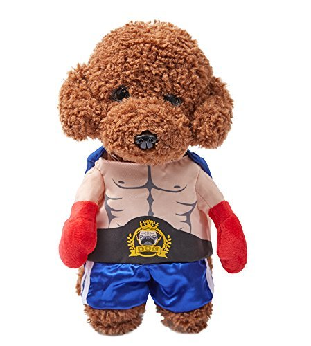 (OSPet Dog Costume Puppy Coat Cos Boxing Champion for Small Dog)