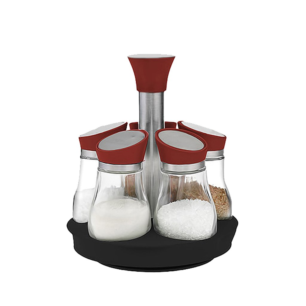 ZFDM Spice Jar Cruet Set Glass Seasoning Box Seasoning Box 5 Piece Set