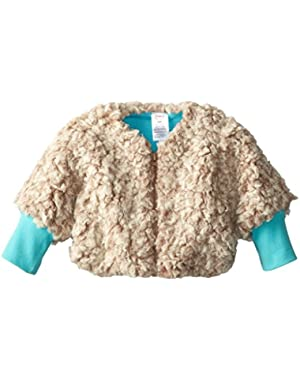 Baby Girls' Furry Zipper Jacket