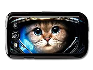 AMAF ? Accessories Funny & Cute Astronaut Cat In Space case for Samsung Galaxy S3