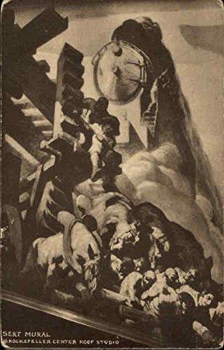 Sert Mural, Rockefeller Center New York, New York Original Vintage Postcard - Mural Center