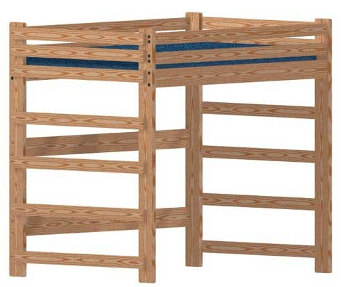 Loft Bed DIY Woodworking Plan to Build Your Own Full-Size Extra-Tall Loft and Hardware Kit (Wood NOT Included)