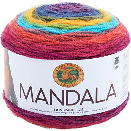 Lion Brand Yarn 525-213 Mandala Yarn, Wizard, (Yarn Bee Brand Yarn)