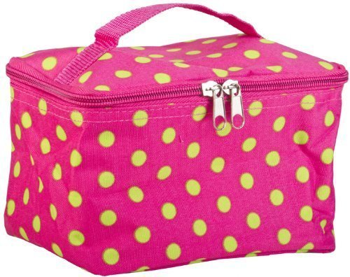 World-Traveler-Pink-and-Green-Polka-Dot-Cosmetic-Makeup-Case-by-World-Traveler