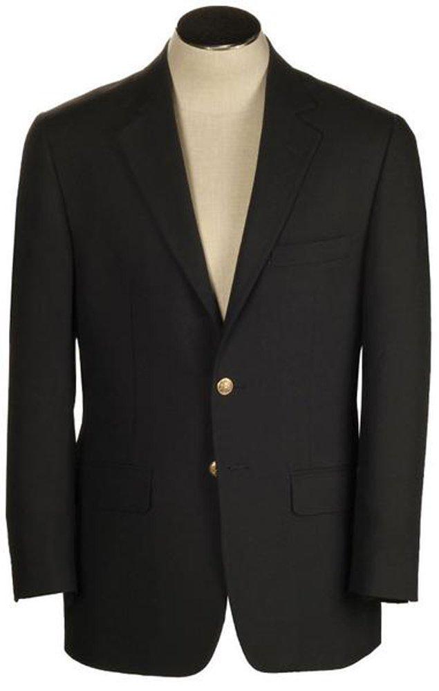 Hardwick Morgan Black Hopsack Big & Tall Travel Blazer - Portly Fit 48 / LONG