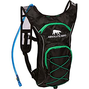 Ultimate Neon Grizzly Hydration Backpack By Absolute Zero –Heavy-Duty 2L Water Camel PackWith Extra Storage Space, Lightweight & Comfortable Hydration Bladder For Runners, Hikers, Cyclists & More