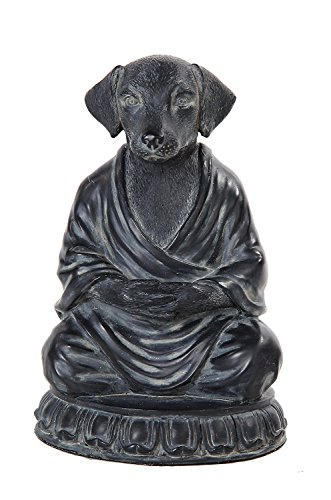 Relaxing Meditating Dog Decorative Tabletop Figurine, 6 inch ()