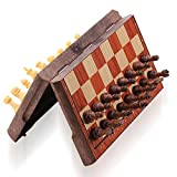 ColorGo Magnetic Travel Chess set, Portable Mini Chess Board Game for Adults