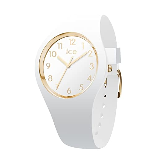 9470bcb8a965e Ice-Watch - ICE glam White Gold Numbers - Women's wristwatch with silicon  strap - 014759 (Small): Amazon.co.uk: Watches