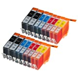 16 Pack Compatible HP 564 Without Chip 4 Black, 4 Cyan, 4 Magenta, 4 Yellow for use with HP HP Officejet 4620, Photosmart 5525, Photosmart 5522, Deskjet 3521, Deskjet 3520, Deskjet 3522, Photosmart Plus, Photosmart 5512, Photosmart 5515, Photosmart 5514, Photosmart 5510, Photosmart 5520, Photosmart 5511, Photosmart 6512, Photosmart 6515, Photosmart 6510, Photosmart 6520, Photosmart 7510, B210a, B111a, B111h, B111j, B211a, C311a. Ink Cartridges for inkjet printers. CB323WN , CB324WN , CB325WN
