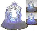 Lighted Nativity Scene with Star - LED Manger Scene - Christmas Table Top Decorations - Holy Family - Christmas Decorations