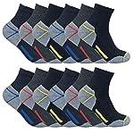 Sock Snob Chaussettes de travail à la cheville en coton rembourré ultime pour hommes pour bottes à bout en acier 6