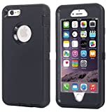 Ai-case Built in Screen Protector Tough 4-in-1 Rugged Shockproof Cover with Kickstand for iPhone 6/6S Plus