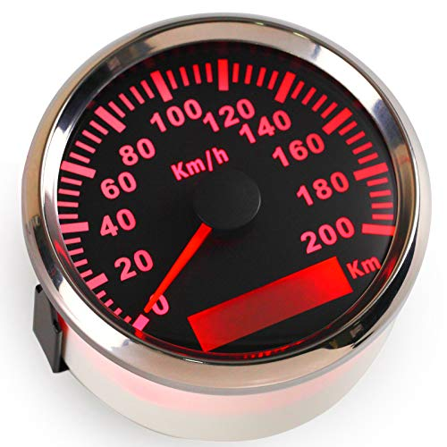 Velocímetro GPS impermeable de 200 km/h para coches y motos con retroiluminación de 85 mm, 12 V/24 V: Amazon.es: Coche y moto