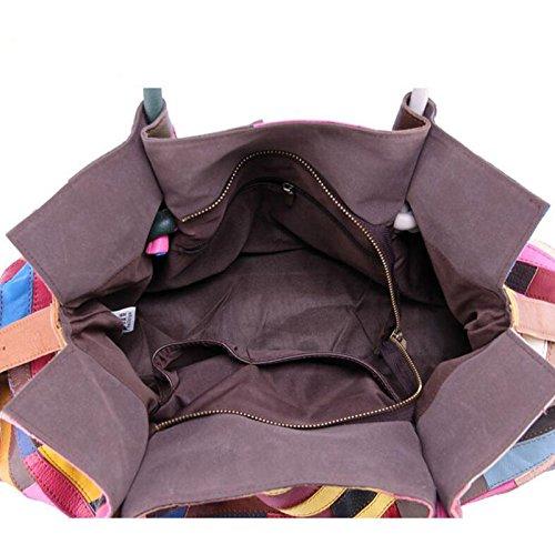 De Cuero Gran Bag A Cuero Messenger De Bolso JPFCAK Hombro Bolsa Señora De Capacidad Bolsa Stitching 611wzq