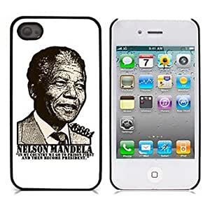 DUR Remembering the Freedom Fighter Nelson Mandela Design Aluminium Hard Case for iPhone 4/4S