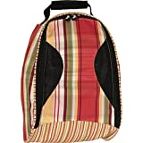 Sassy Caddy Women's Zesty Golf Shoe Bag, Tomato Red/Apple Green/Golden Yellow/White