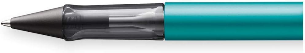 Bol/ígrafo de punta redonda de aluminio en color azul y verde anodizado con mango transparente LAMY AL-star 323 trazo M con mina M 63