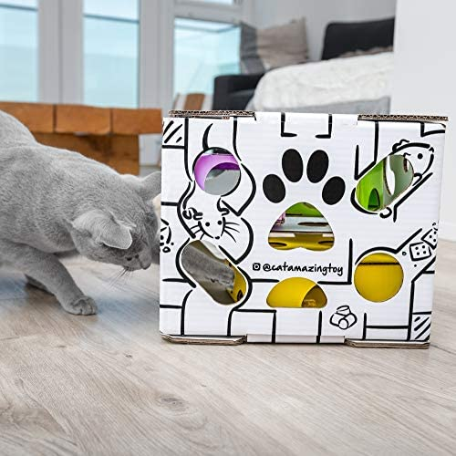 Cat Amazing Sliders – Interactive Treat Puzzle Cat Toy – Active Food Puzzle Feeder 7