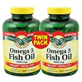 Spring Valley – Fish Oil Omega-3, 1000 mg, 400 Softgels, Twin Pack, Health Care Stuffs