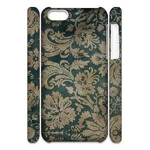 3D [Illustration] Floral Pattern Case for IPhone 5C {White}
