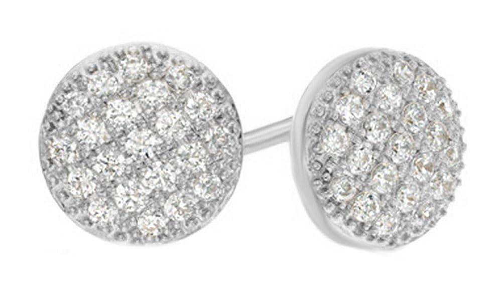 mit natürlicher Diamant-Cluster-Ohrstecker in 14 kt 585, Weißszlig;Gold mit 0,5 kt 14 Karat (585) WeißGold