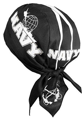 US NAVY Bandana Doo-Rag with SWEATBAND Skull Cap Du-Hat (Skull Deluxe Cap)