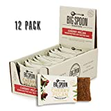 Big Spoon Roasters Cherry Pecan Nut Butter Bars - Low Carb, High Protein Bars with Non-GMO Pea Protein - Energy Bars with Peanut & Pecan Butters - Gluten-Free, Soy-Free, Lean Protein Bars - 12-Count