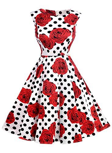 futurino-womens-vintage-classy-floral-1950s-audrey-hepburn-tea-swing-midi-dress-s-red-rose